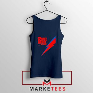 Rebel Rebel David Bowie Navy Blue Tank Top
