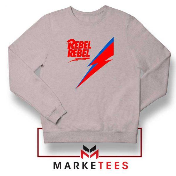 Rebel Rebel David Bowie Sport Grey Sweatshirt