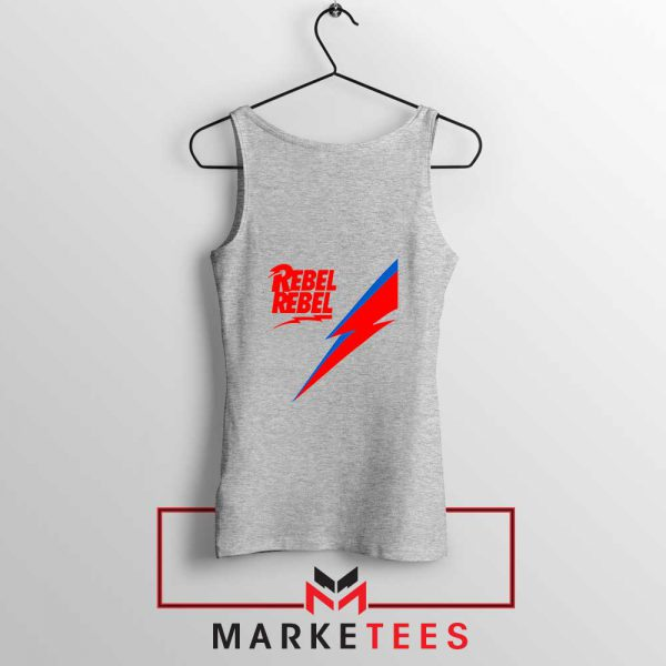 Rebel Rebel David Bowie Sport Grey Tank Top