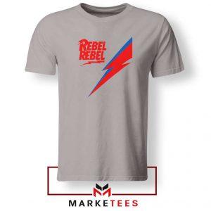 Rebel Rebel David Bowie Sport Grey Tshirt