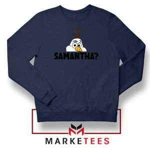 Samantha Olaf Navy Blue Sweatshirt
