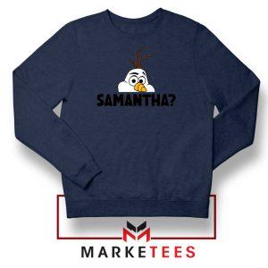 Samantha Olaf Navy Blue Sweatshirt