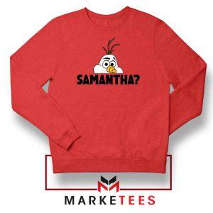 Samantha Olaf Red Sweatshirt