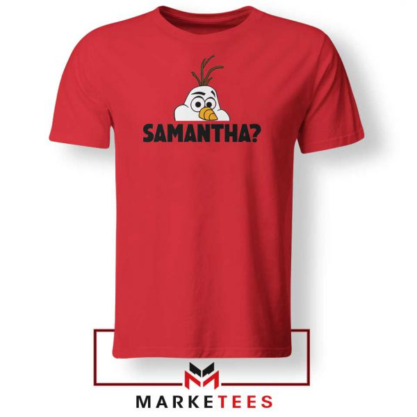 Samantha Olaf Red Tshirt