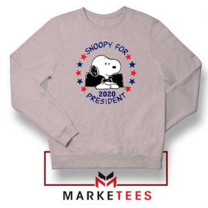 Snoopy For President 2020 Sport Grey Sweatshirt