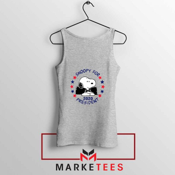 Snoopy For President 2020 Sport Grey Tank Top
