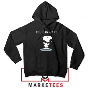 Snoopy You Can Do It Black Hoodie