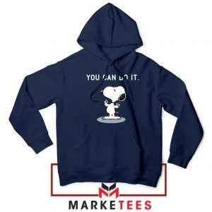 Snoopy You Can Do It Navy Blue Hoodie