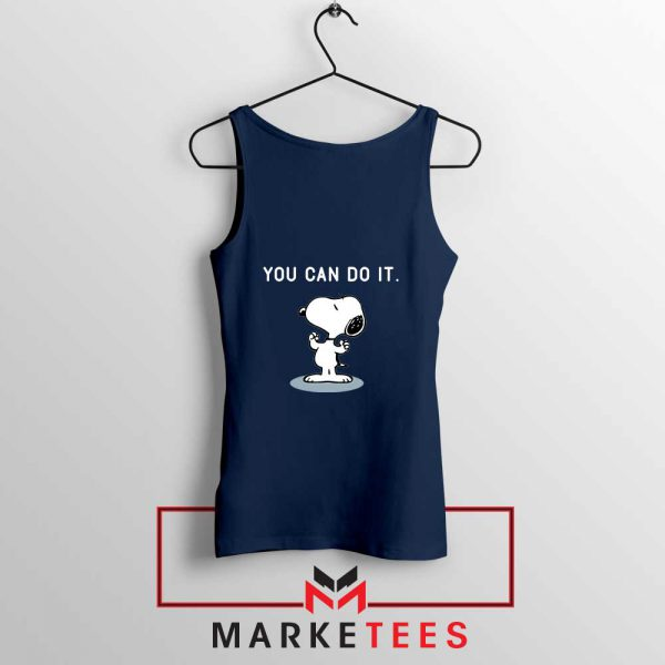 Snoopy You Can Do It Navy Blue Tank Top