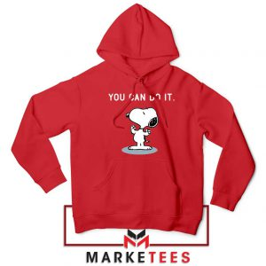 Snoopy You Can Do It Red Hoodie