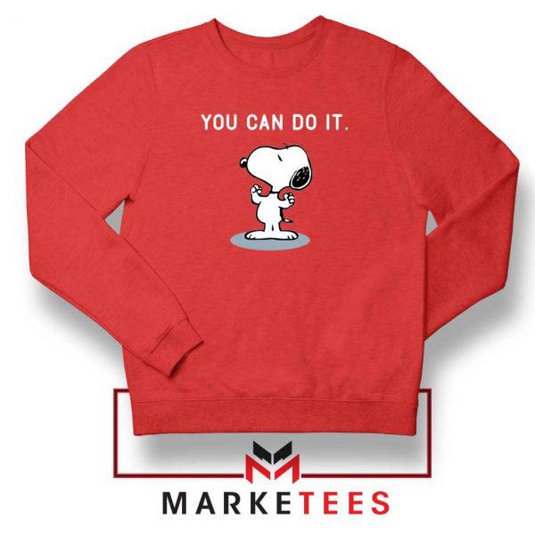Snoopy You Can Do It Red Sweatshirt