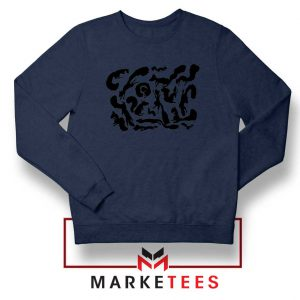 Squiggle Of Squirrels Navy Blue Sweatshirt