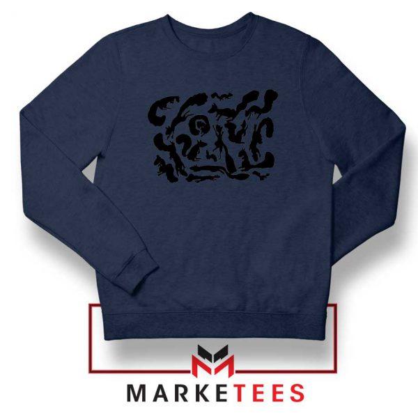 Squiggle Of Squirrels Navy Blue Sweatshirt