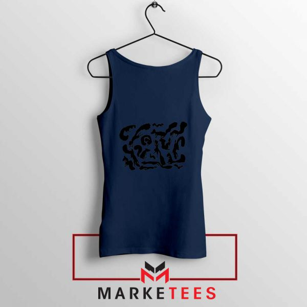 Squiggle Of Squirrels Navy Blue Tank Top
