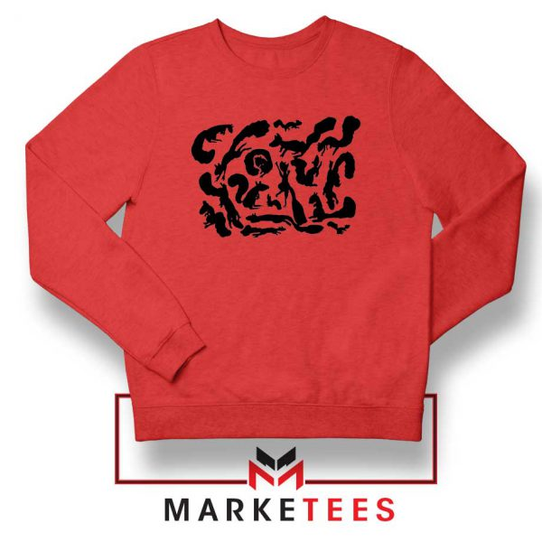 Squiggle Of Squirrels Red Sweatshirt