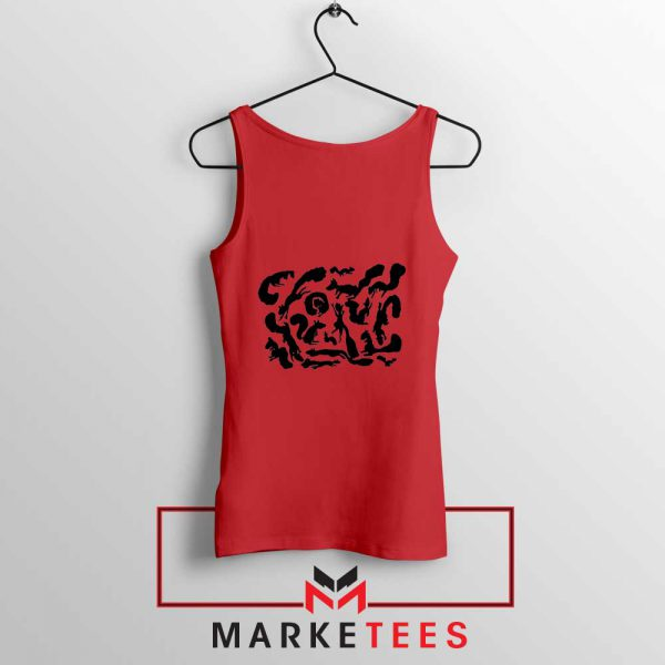 Squiggle Of Squirrels Red Tank Top