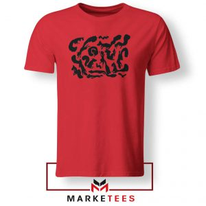 Squiggle Of Squirrels Red Tshirt