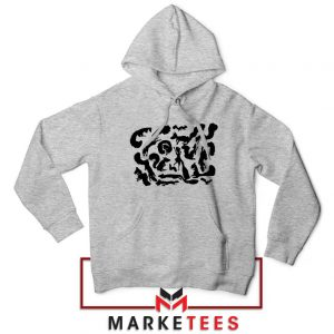 Squiggle Of Squirrels Sport Grey Hoodie