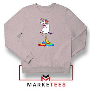 Unicorn Fart Rainbow Sport Grey Sweatshirt