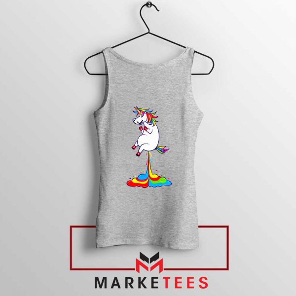 Unicorn Fart Rainbow Sport Grey Tank Top