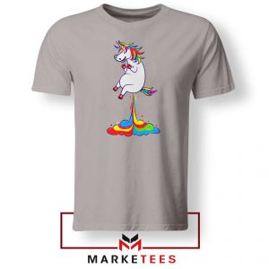 Unicorn Fart Rainbow Sport Grey Tshirt