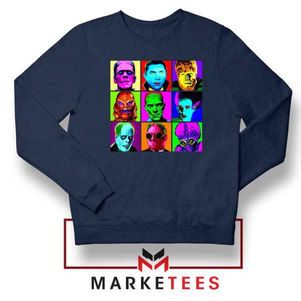 Universal Warhol Horror Navy Blue Sweatshirt
