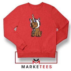 Vizsla Unicorn Hat Red Sweatshirt