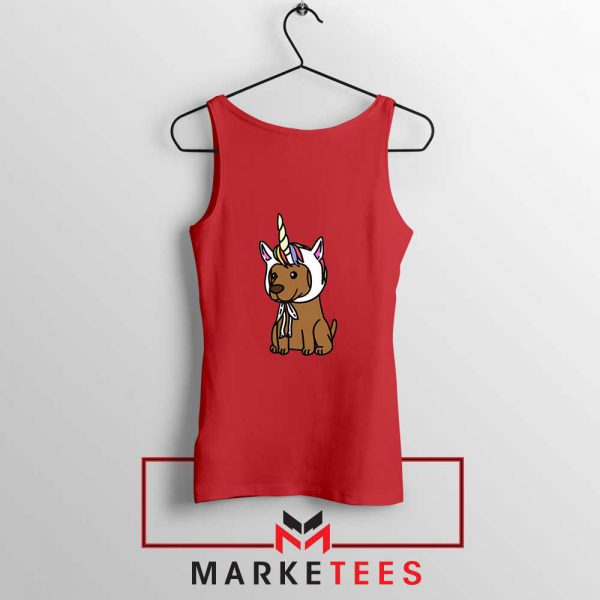 Vizsla Unicorn Hat Red Tank Top