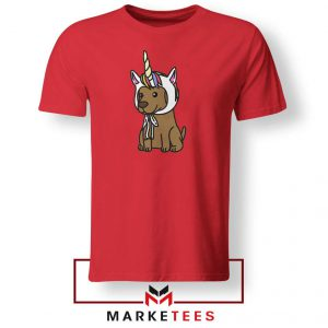 Vizsla Unicorn Hat Red Tshirt