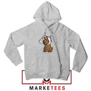 Vizsla Unicorn Hat Sport Grey Hoodie