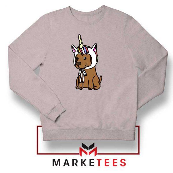 Vizsla Unicorn Hat Sport Grey Sweatshirt