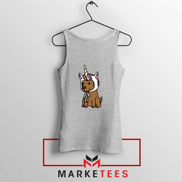 Vizsla Unicorn Hat Sport Grey Tank Top