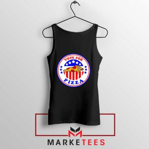 Vote For Pizza President Black Tank Top