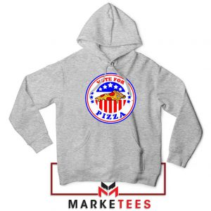 Vote For Pizza President Sport Grey Hoodie