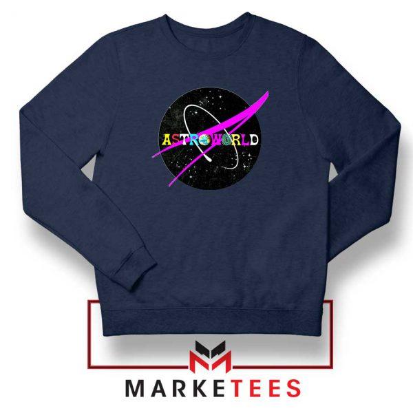 Astroworld Album Navy Blue Sweatshirt