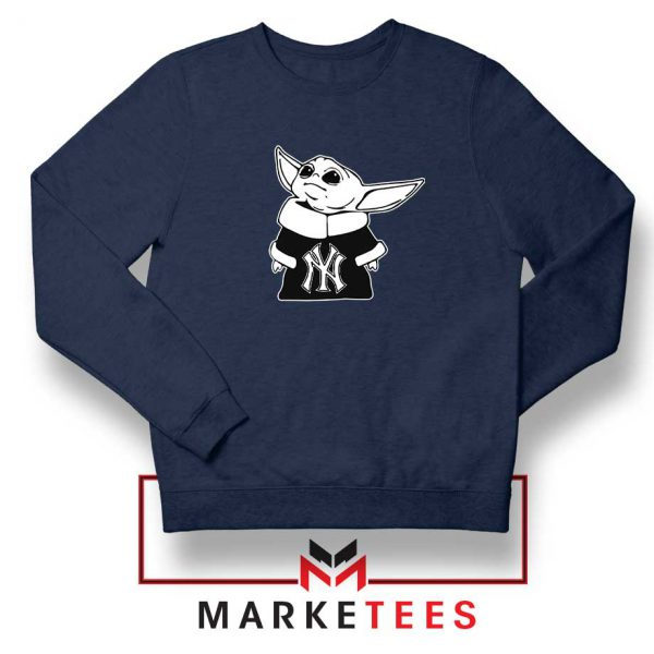 Baby Yoda Yankees NAvy Blue Sweatshirt