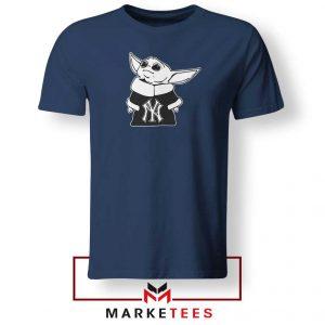 Baby Yoda Yankees Navy Blue Tshirt