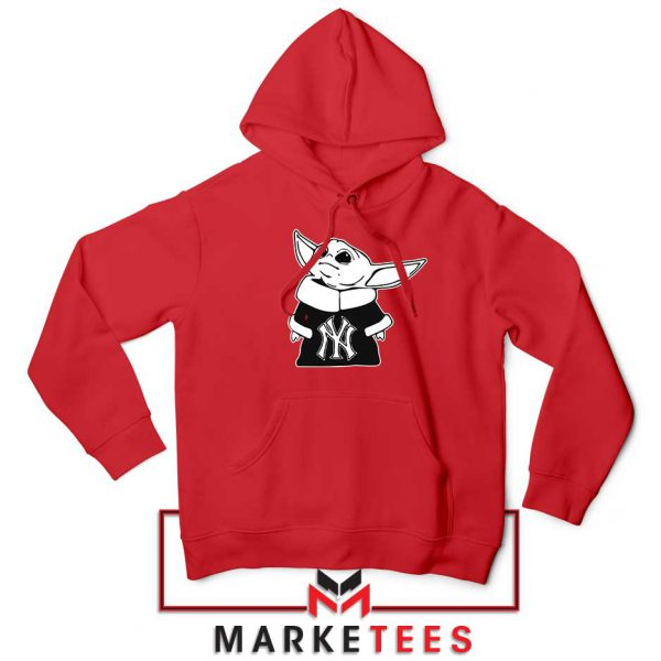 Baby Yoda Yankees Red Hoodie