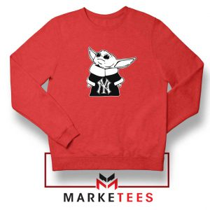 Baby Yoda Yankees Red Sweatshirt