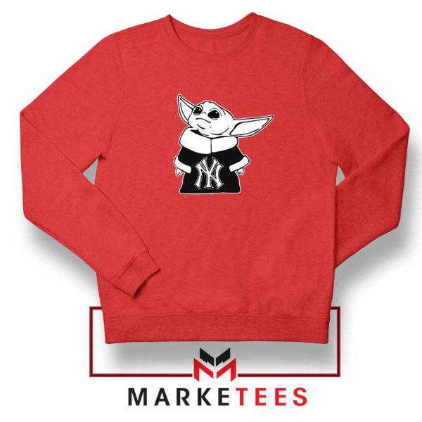 Baby Yoda Yankees Red Sweatshirt