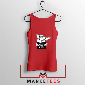 Baby Yoda Yankees Red Tank Top