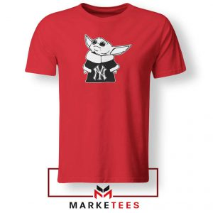 Baby Yoda Yankees Red Tshirt