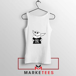 Baby Yoda Yankees White Tank Top