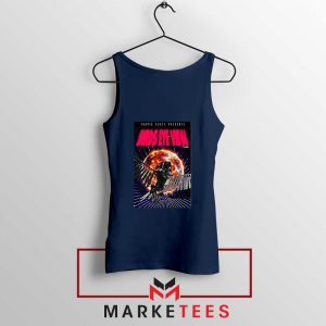 Birds Eye View Navy Blue Tank Top