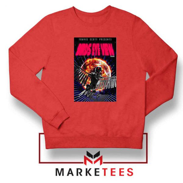 Birds Eye View Red Sweatshirt