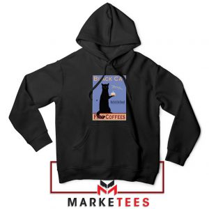 Black Cat Coffee Black Hoodie