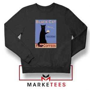 Black Cat Coffee Black Sweatshirt