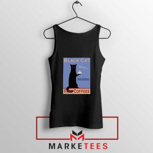 Black Cat Coffee Black Tank Top