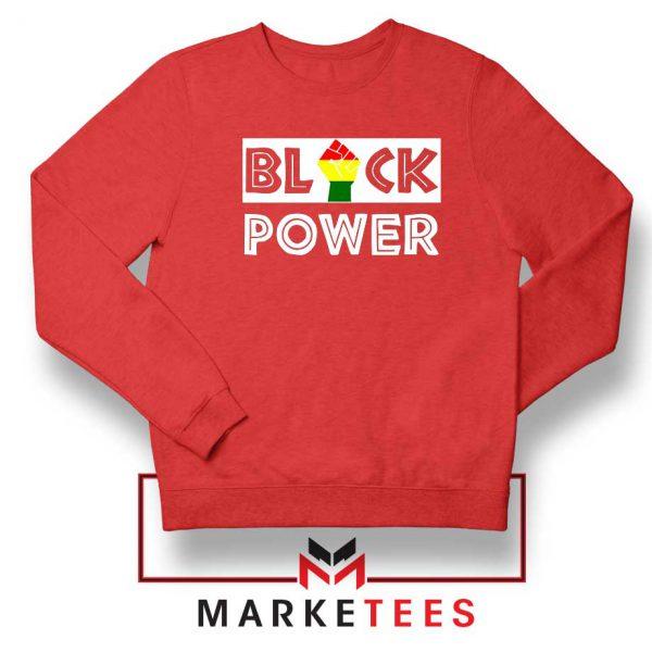 Black Power Rainbow Fist Red Sweatshirt