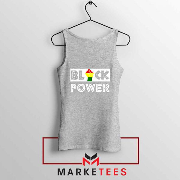 Black Power Rainbow Fist Sport Grey Tank Top